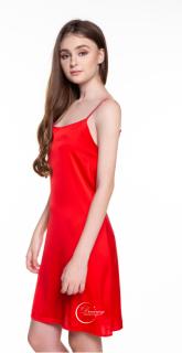 Dreamy - VS04 Váy ngủ lụa cao cấp dáng suống đơn giản, trơn, quyến rũ, sang trọng, Váy ngủ lụa cao cấp, váy ngủ nữ, váy ngủ 2 dây, váy ngủ gợi cảm ,váy ngủ sexy,đầm ngủ lụa mặc nhà có có ba màu đen, hồng pastel và đỏ thumbnail