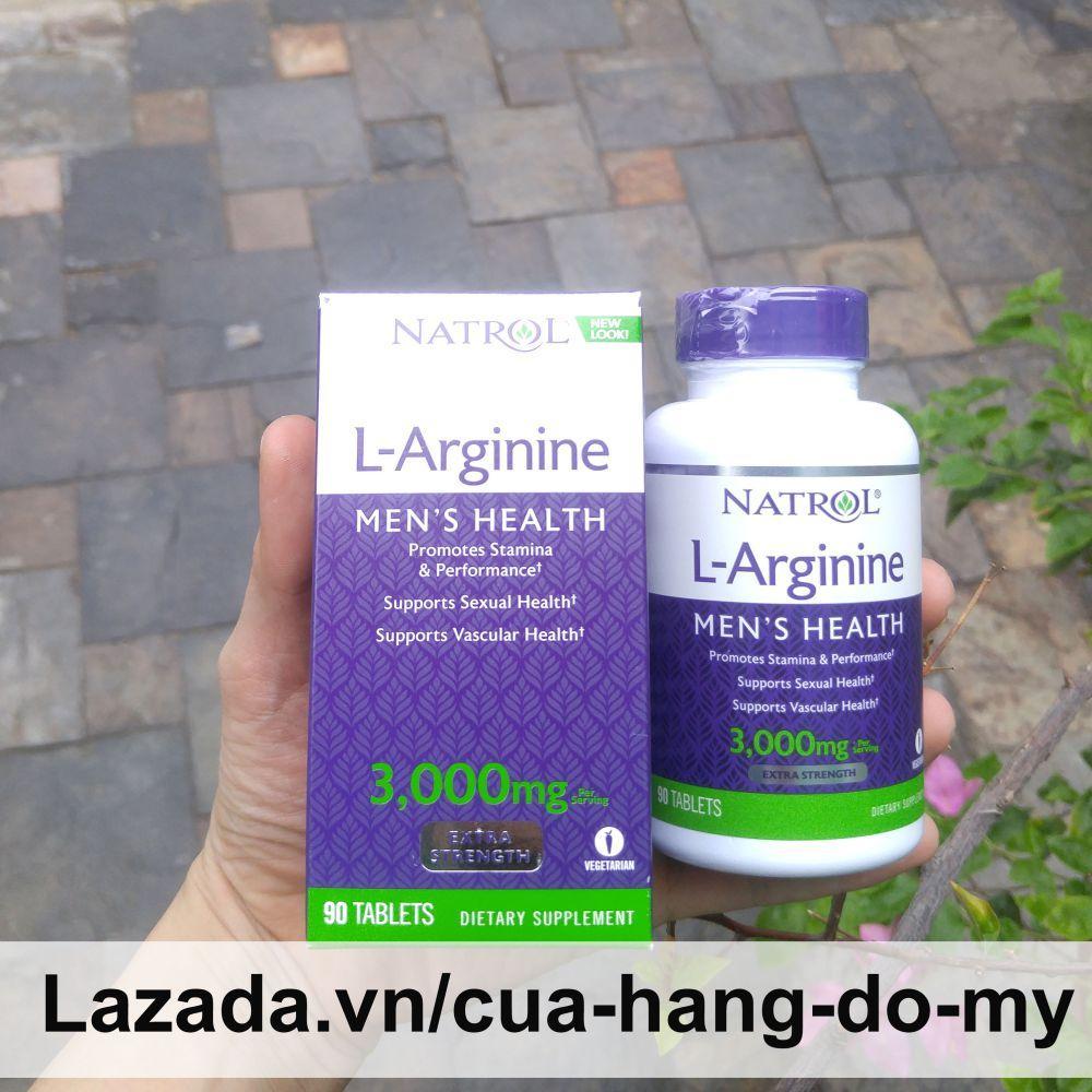 Viên uống L- Arginine 3000 Mg Cải Thiện sức khỏe 90 viên - Natrol L-Arginine nhập khẩu
