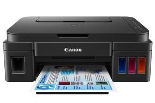 Máy in phun màu Canon G2010 đời mới 2020 đi kèm 4 bình mực zin theo máy(in scan copy) thumbnail