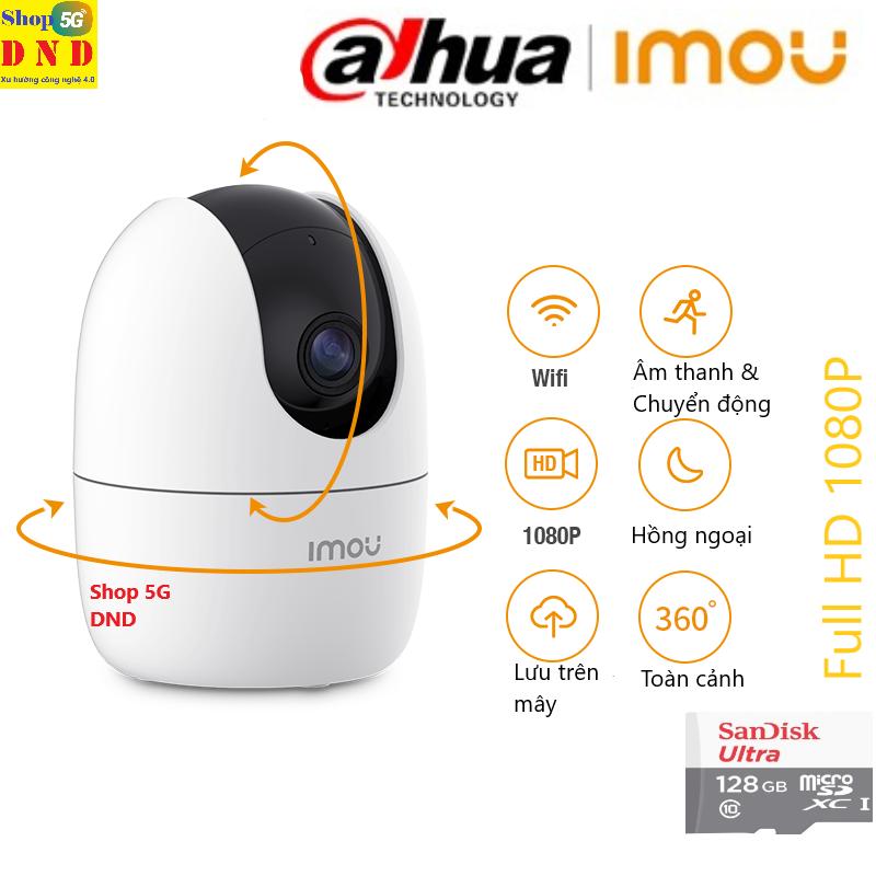 DAHUA - IMOU RANGER 2 A22EP Camera IP WIFI 2.0Mpx FULL HD 1080P - Bám chuyển động - Phát hiện con người (AI) - Phát hiện âm thanh - Tích hợp còi hú - Hỗ trợ 256GB (Shop kèm 128GB, 64GB Tùy chọn) - (BH 5 năm) Chính hãng 1 triệu%