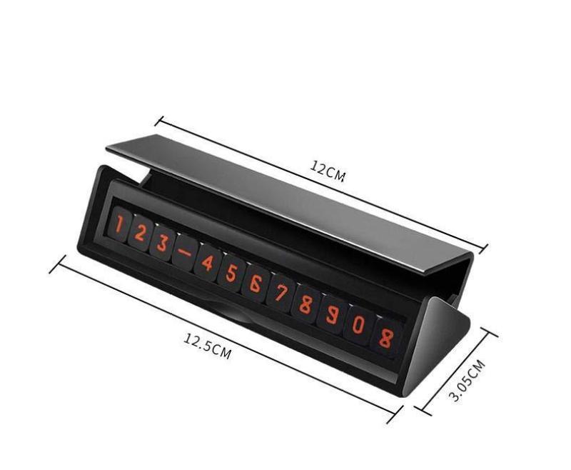 Bảng ghi số điện thoại cho ô tô, xe hơi phát quang nổi bật khi trời tối (mẫu 5) L-mart- yên tâm khi đỗ xe mọi lúc mọi nơi