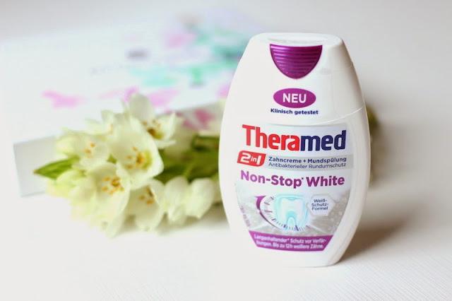 Kem đánh răng theramed 2in1 non stop white