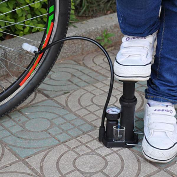 Bơm xe đạp chân hà nội - Bơm xe máy mini hcm - Bơm đạp chân mini HON-FP1845D