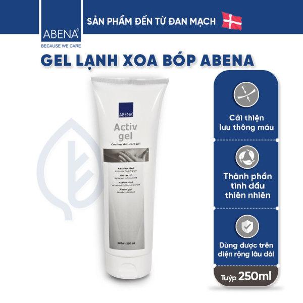Gel xoa bóp lạnh Abena ActivGel 250ml - xoa bóp giảm đau cơ, cải thiện lưu thông máu với thành phần tinh dầu tự nhiên, có thể dùng trên diện rộng và lâu dài