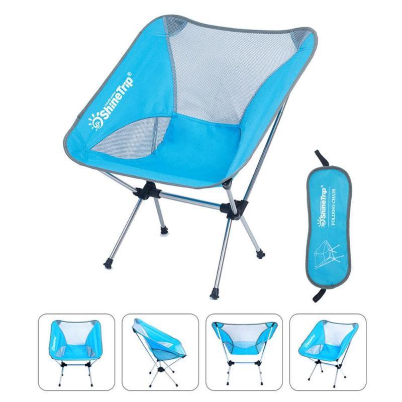 Shinetrip Portable Blue. Folding Outdoor Camping Fishing Chair Ultralight Camping Hiking Beach Picnic Barbecue Chair Fishing Seat