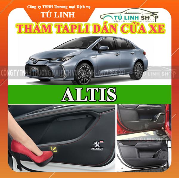 Bộ 4 Thảm Tapli dán cánh cửa chống trầy xước xe ALTIS 2014-2019