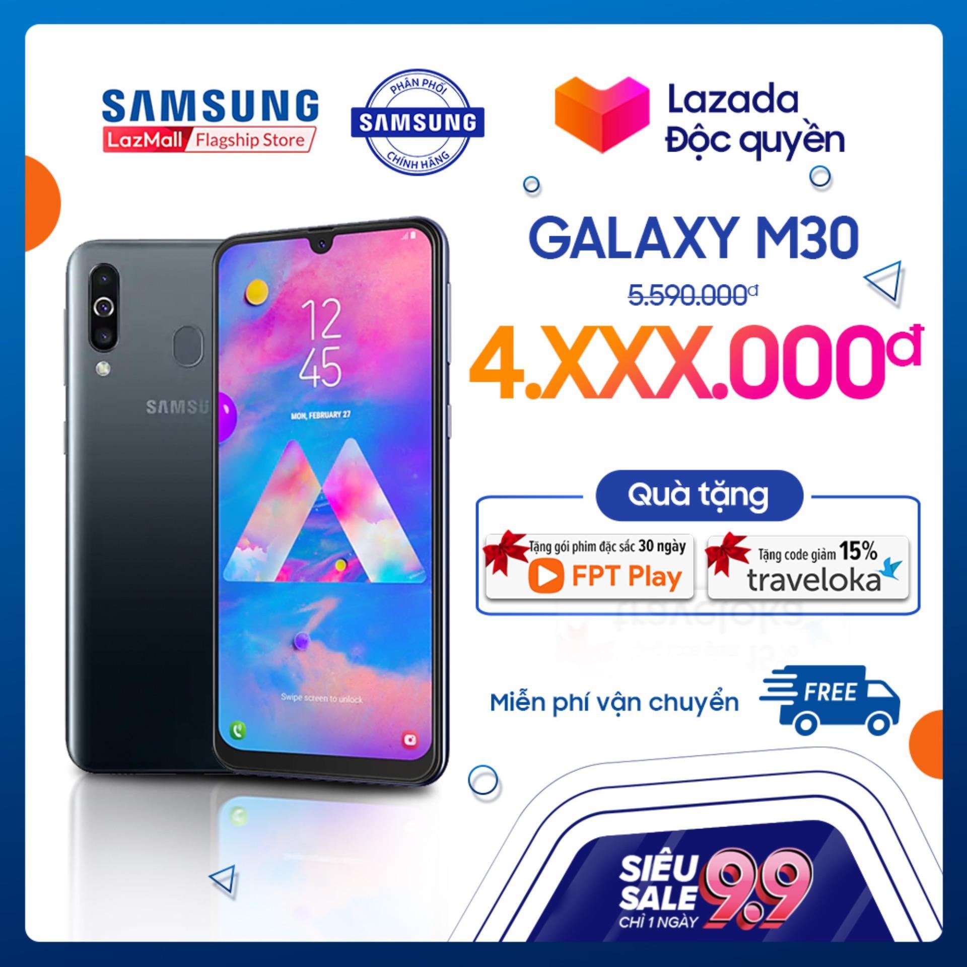 Điện thoại Samsung Galaxy M30 64GB (4GB RAM) Đen -...
