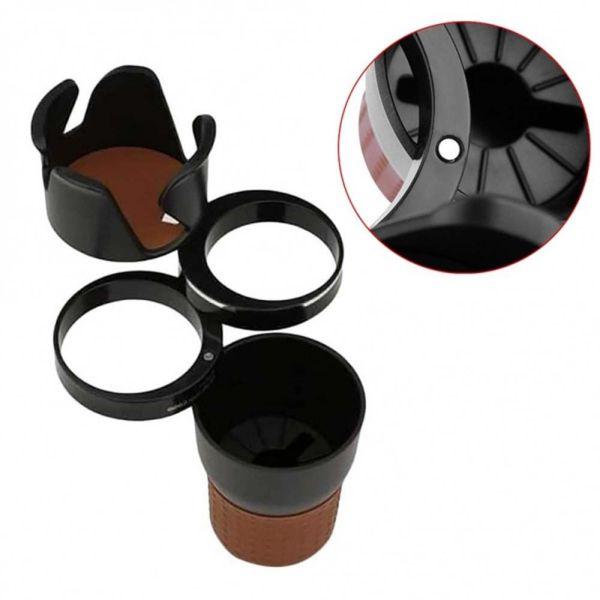 ROOMH Cao thủ Đơn giản Tính cách Cúp kép 4 trong 1 Giá đỡ cốc trên ô tô Giá đỡ đồ uống gắn trên xe Dụng cụ mở rộng giá đỡ cốc Giá đỡ cốc nước trên ô tô