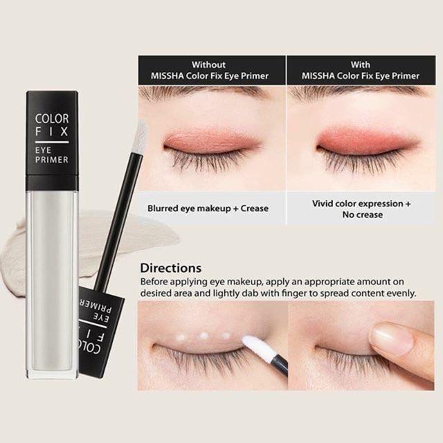 Kem lót trang điểm vùng mắt cao cấp Color Fix Eye Primer Missha tốt nhất