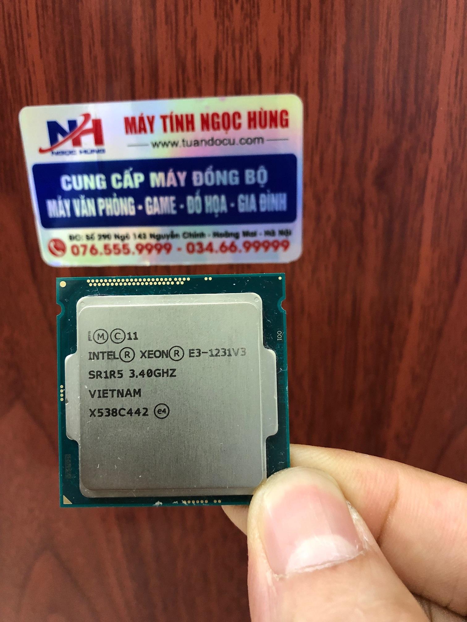 Giá XẢ KHO - bán 50 con CPU Intel Xeon E3 1231v3 socket 1150