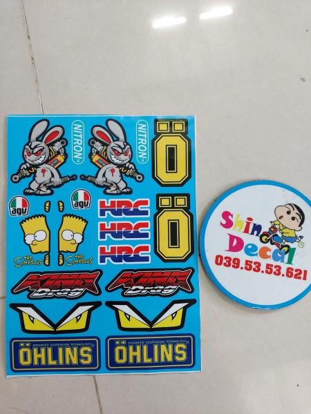 Tem logo thỏ cầm phuộc hot trọn bộ siêu rẻ