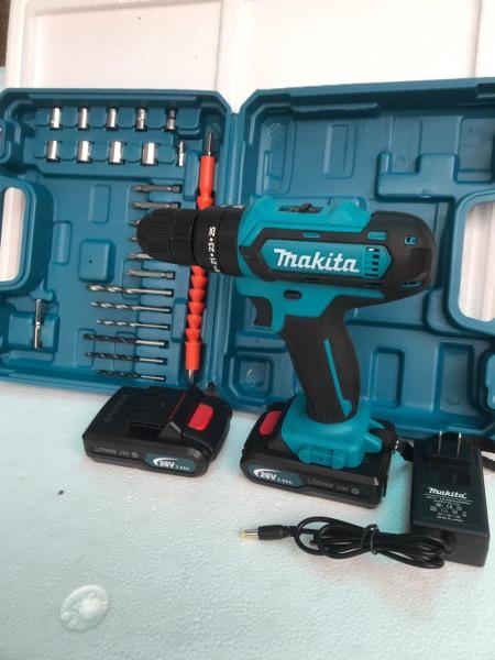 Máy khoan pin Makita 26v - 2 Pin - Tặng kèm 25 chi tiết phụ kiện