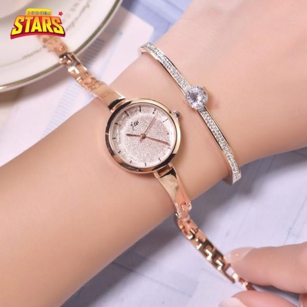 Nơi bán Đồng hồ nữ chống nước dây thiếc chống gỉ đẹp sang trọng giá rẻ mắc xích đoạn thanh liền Honey Start 492373