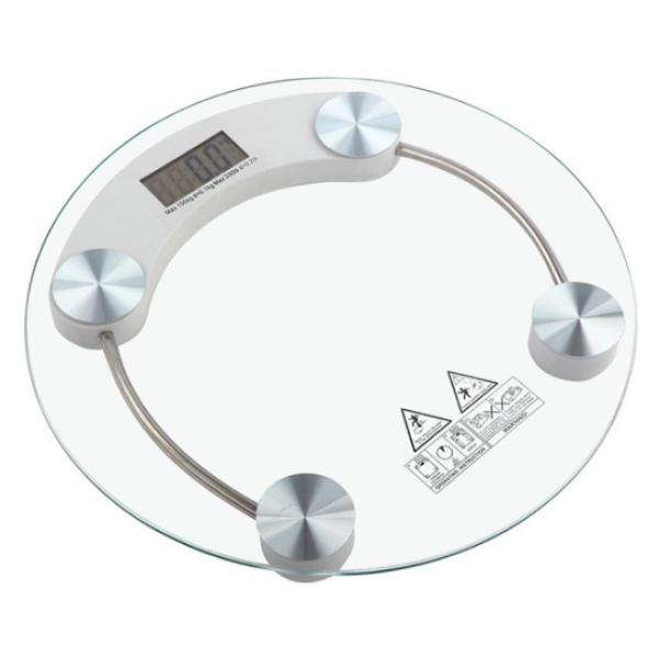 Cân Điện Tử Mặt Kính Cường Lực Trong Suốt (26 x 2.8 cm)