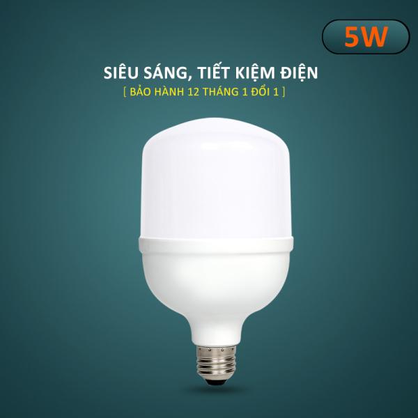 Bóng đèn Led hình trụ búp tiết kiệm điện, đuôi vít xoắn ốc E27 công suất 5W-10W-15W-20W-30W-40W-50W, ánh sáng trắng không chói mắt, tuổi thọ cao, không nhấp nháy, không tia UV, tiện nghi cho nhà trọ, gia đình, văn phòng-DBT