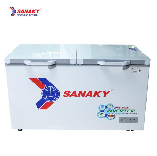 Tủ đông Sanaky mặt kính 2 chế độ Inverter ( xám ) VH-4099W4K dung tích thực 280 lít 2 cửa 2 ngăn