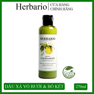 Dầu xả vỏ bưởi & bồ kết Herbario 270ml giúp giảm rụng tóc, nuôi dưỡng tóc chắc khỏe và suôn mượt thumbnail