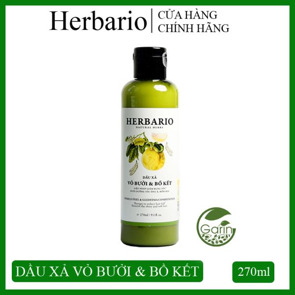 Dầu xả vỏ bưởi & bồ kết Herbario 270ml giúp giảm rụng tóc, nuôi dưỡng tóc chắc khỏe và suôn mượt giá rẻ