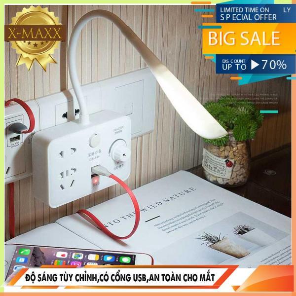 Ổ CẮM ĐỊỆN THÔNG MINH 3 In 1 - KÈM ĐÈN LED SIÊU SÁNG - 2 CỔNG SẠC USB 2.1A NEWMAXX-060