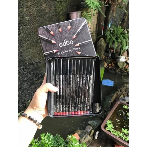 Set chì kẻ môi Odbo Thái Lan 12 cây màu giá rẻ