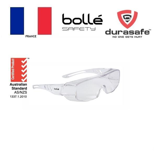 Kính BOLLE 1680501 Overlight II AS/AF Clear Len, lớp phủ HD chống trầy xước, chống đọng sương, chống tia UV, kèm hộp