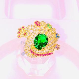 Nhẫn vàng nữ, nhẫn đẹp mạ vàng đính đá pha lê xinh đẹp sáng lấp lánh thời trang đeo may mắn bình an hạnh phúc Gado N010 chạm khắc hoa văn tinh tế sang trọng thiết kế thời trang thumbnail