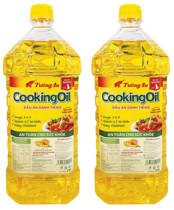 ( 2 Chai 2L CKO ) Combo 2 Chai Dầu Ăn Cao Cấp Tường An Cooking Oil 2L - HSD 2 năm