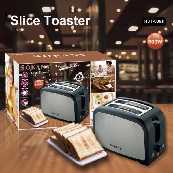 Máy nướng bánh mì,lò nướng bánh, làm bánh mỳ 800W SOKANY 2 HJT-008s