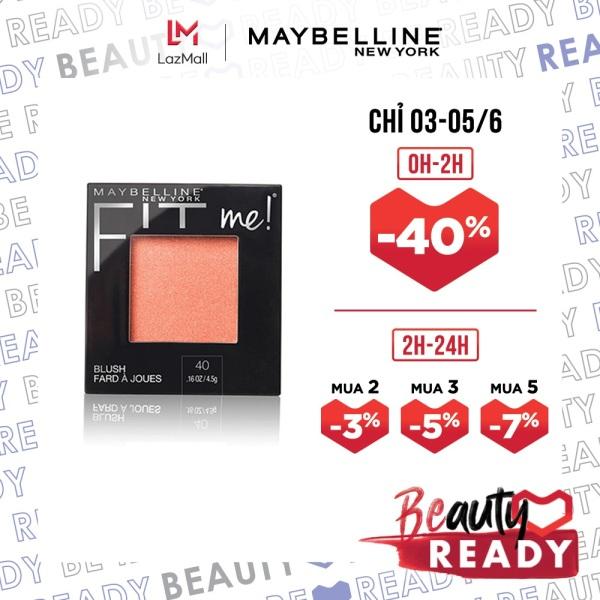 Phấn Má Hồng Mịn Nhẹ Tự Nhiên Giữ Màu Chuẩn Fit Me Blush Maybelline New York 4.5g giá rẻ