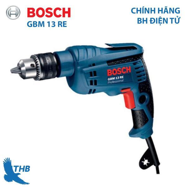 Máy khoan xoay Máy khoan điện cầm tay Bosch GBM 13 RE Xuất xứ Malaysia Bảo hành 12 tháng Đầu cặp 13mm