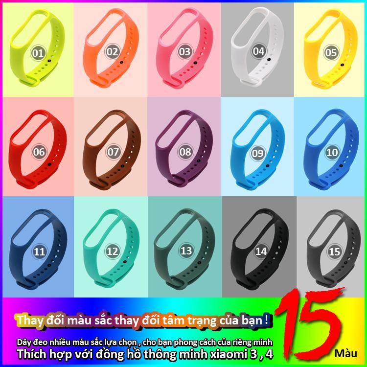 Giá Dây đeo thay thế đồng hồ thông minh miban m3 m4 nhiều màu sắc lựa chọn theo cá tính riêng, thân thiện với môi trường bảo hành 1 năm M3M4 STRAP