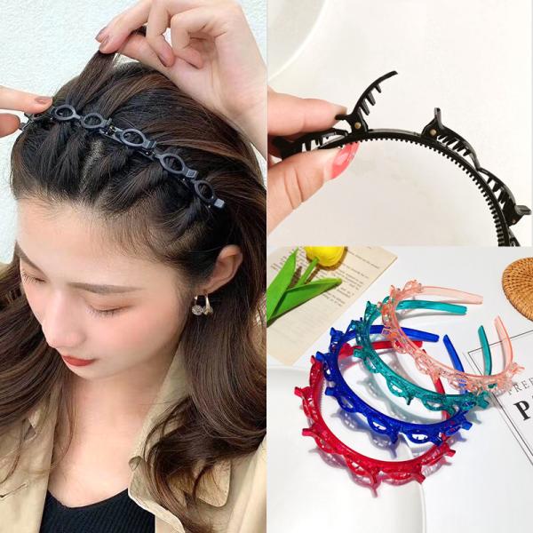 1 Cài tóc có kẹp tạo kiểu tóc xinh xắn - trơn M28 nhiều màu phong cách Hàn Quốc Phụ