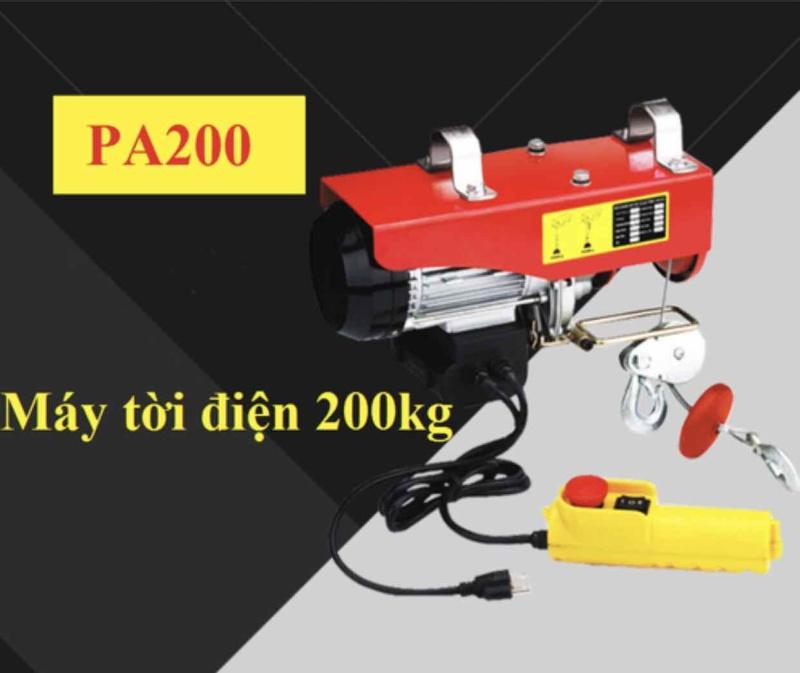 máy tời treo PA200kg - máy tời điện - máy tời treo - máy tời
