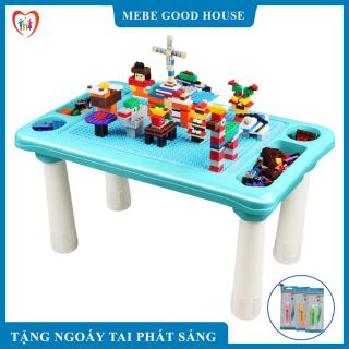 Bộ bàn Xếp Hình lego- Bộ bàn lắp ghép 300 chi tiết- Đồ chơi phát triển trẻ toàn diện thumbnail