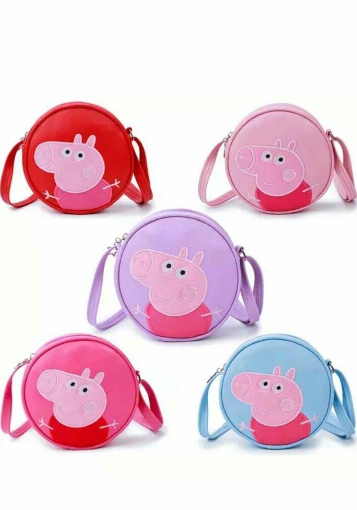 Túi đeo chéo họa tiết lợn Pepa siêu yêu cho bé gái - túi đeo chéo cho bé gái - túi đeo cho bé - túi cho bé gái - túi bao tử cho bé - túi xách cho bé