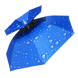 Wearing a sun umbrella folding umbrella cap thumbnail