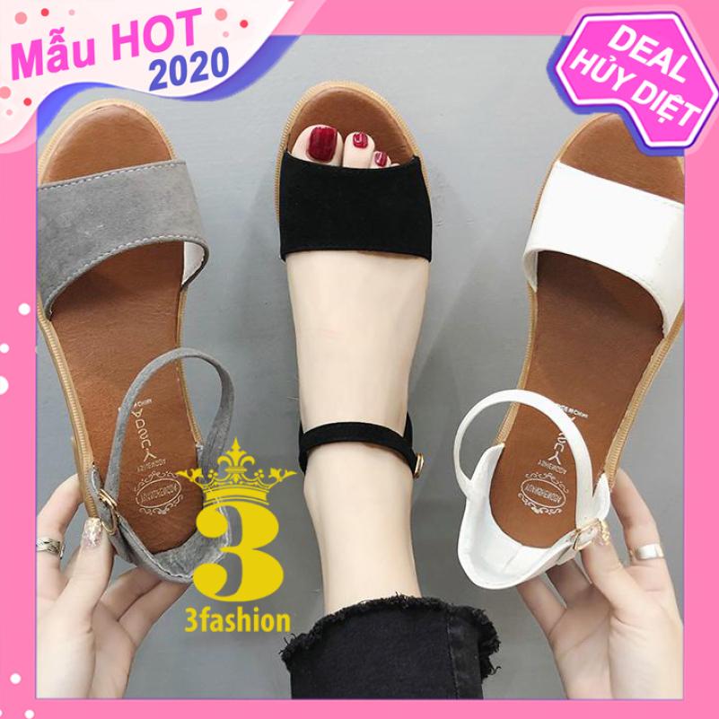 Giày Sandal Nữ Da Mềm Gót Vuông 3,5CM Thiết Kế Trẻ Trung - 2923 giá rẻ