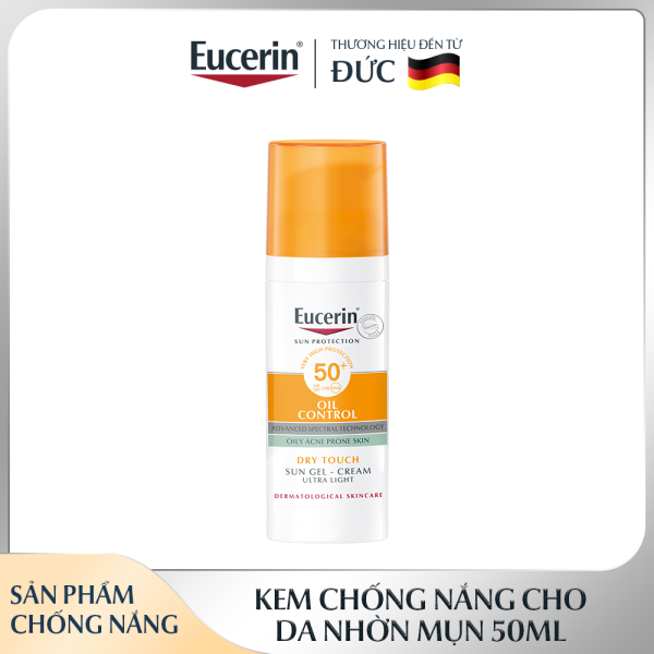 Kem Chống Nắng Cho Da Nhờn & Mụn Eucerin Sun Gel-Cream Dry Touch Oil Control SPF50+ 50ml nhập khẩu