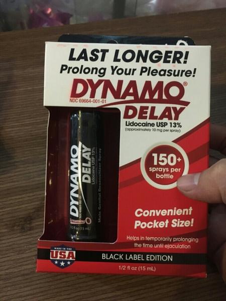 [Cam Kết Hàng Chính Hãng] Hàng chuẩn USA Dynamoo delay đen Chai xịt kéo dài thời gian qhe thuộc dòng siêu PREMIUM che tên sản phẩm khi giao