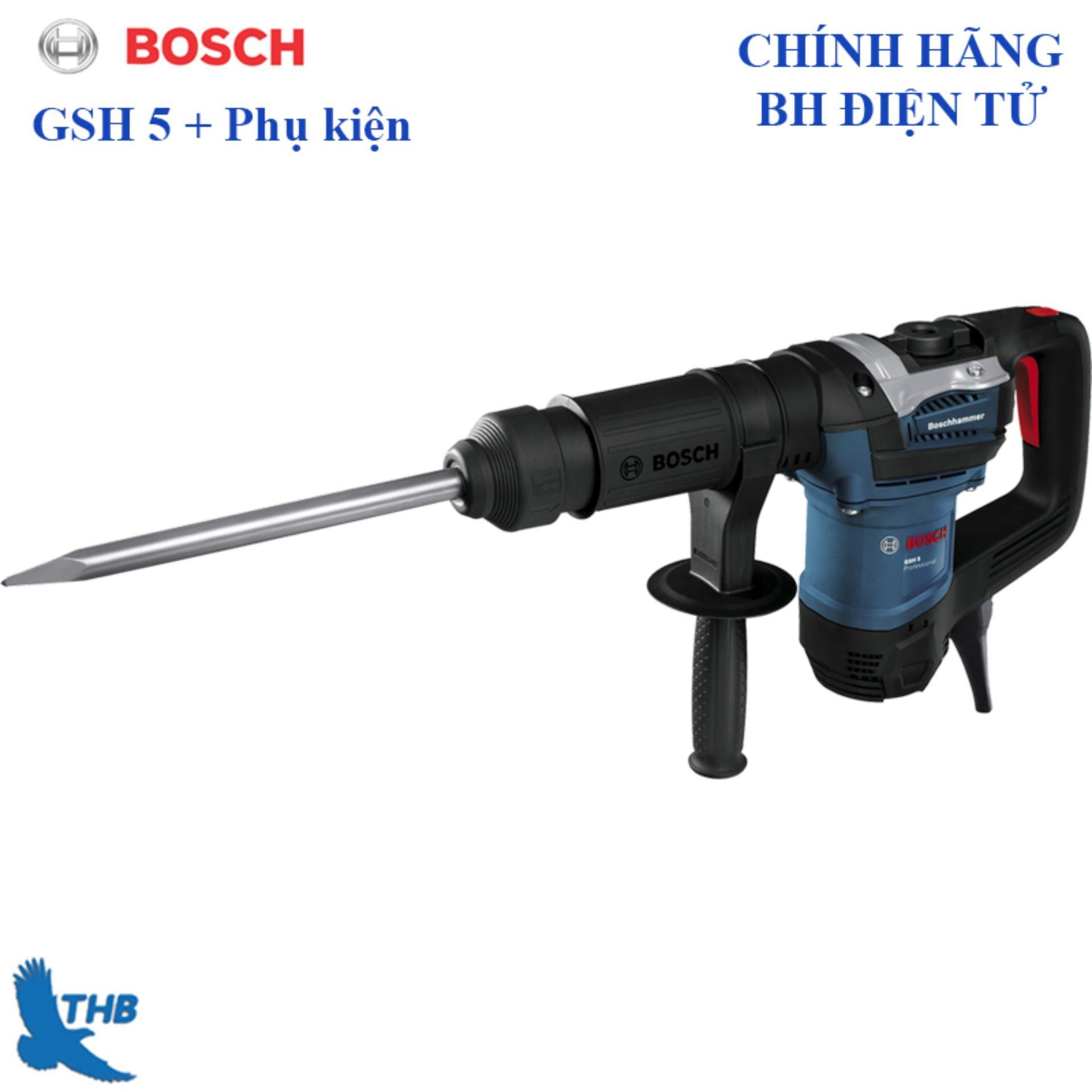 Máy đục bê tông Bosch GSH 5 + Phụ kiện