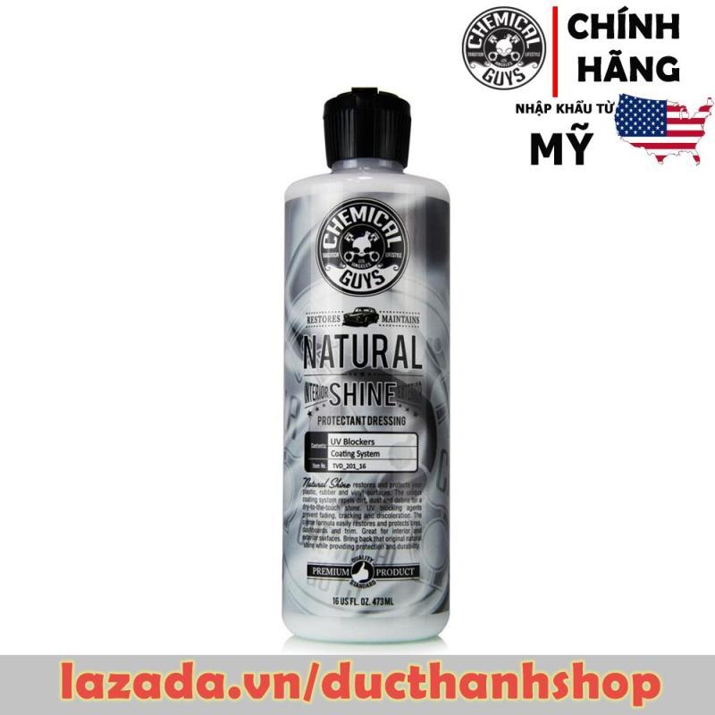 Phục hồi, bảo dưỡng nhựa cao su như mới Chemical Guys Natural Shine, Satin Shine Dressing (16oz)