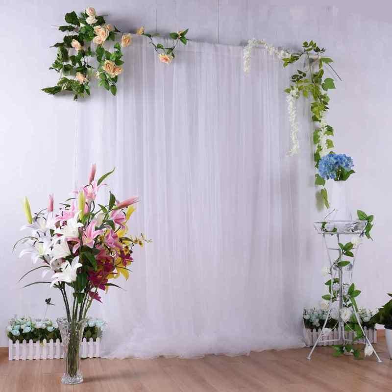 ( Đã may ngang ) 1 tấm vải khổ 1m7 x 3 m đã may làm rèm cửa sổ, phông rèm sinh nhật, phông rạp cưới, vách ngăn chia phòng, phông nền studio chụp ảnh tặng 2 kèm móc treo