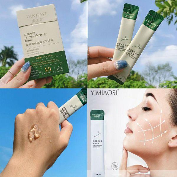 [HCM]Hộp 20 gói mặt nạ ngủ thạch nâng cơ collagen chống chảy xệ dưỡng da mụn cấp ẩm thải độc