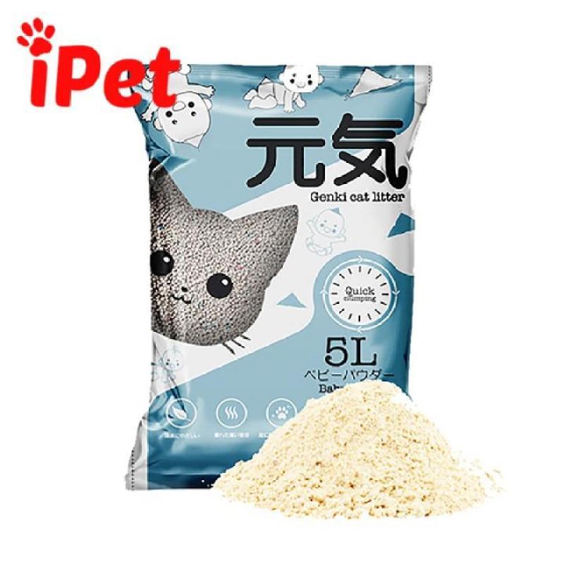 Cát Vệ Sinh Nhật Genki Cho Mèo - 5L - iPet Shop