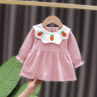 0-4 year old girl dress up long sleeve princess dress new spring and autumn