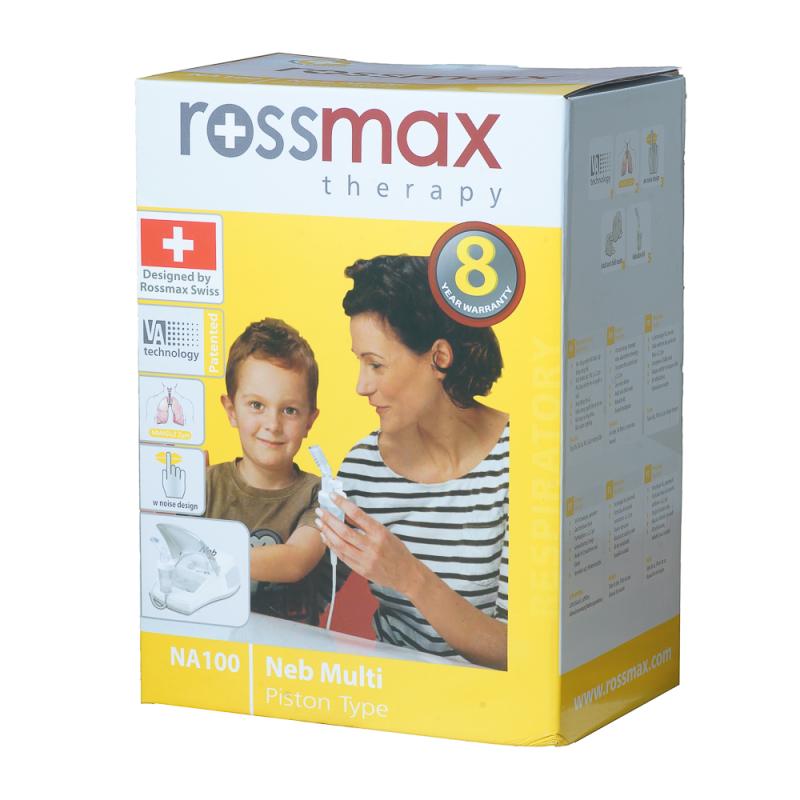 Máy xông khí dung Rossmax NA10 0/NA 90 (hộp vàng) - có chức năng hút
