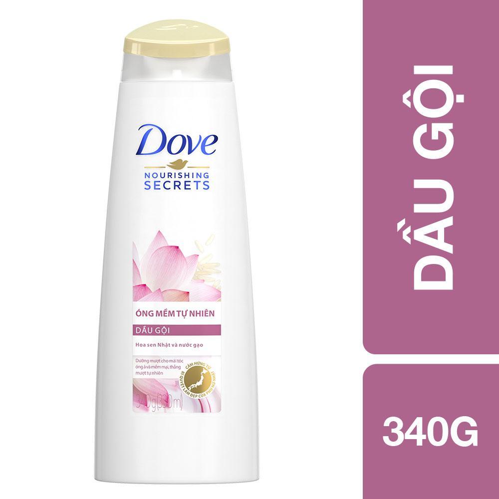 Dầu gội Dove óng mềm tự nhiên 340g