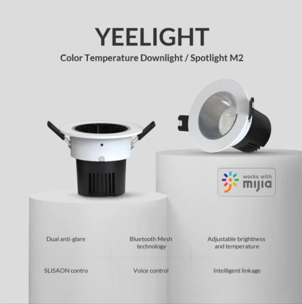 Bảng giá Đèn LED Downlight Âm Trần Thông Minh Xiaomi Yeelight M2 Pro YLTSO3YL , 2700-6500k , Hỗ trợ Apple Homekit - Bản Quốc Tế
