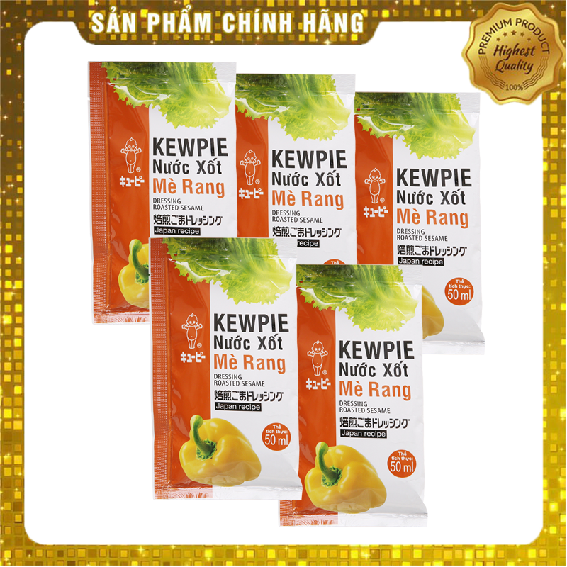Combo 5 Gói Xốt Salad Mè Rang Kewpie Gói 15ml - Ăn Giảm Cân KETO