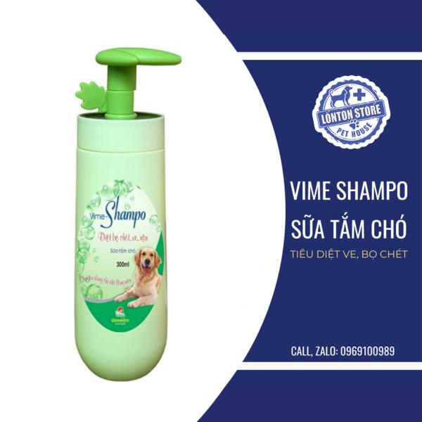 Sữa tắm chó mèo Vime Shampoo diệt ve chó (lông màu). Vemedim & Lonton store Dầu tắm chó mèo Vime Shampo